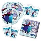 Eiskönigin Ice Skating Party Deko Set (36 teilig - 8 Kinder)