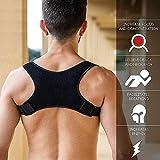 Geradehalter zur Haltungskorrektur für Damen und Herren - Rückenstabilisator Schulterschmerzen und Nackenschmerzen. Haltungsbandage