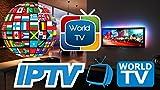 Fire TV Stick 4K mit 12 Monaten IPTV 6000+ Fernsehsender (mit Adult) Alexa Voice Remote [USA, Kanada, Großbritannien, Europa, Arabisch ,Indischm,Erwachsenenkanal ] weltweit