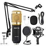 ZINGYOU Kondensator-Mikrofon Bundle, BM-800 Mic Kit mit verstellbarem Mic Suspension Scissor Arm, Shock Mount und Double-Layer Pop Filter für Studio Recording & Broadcasting