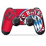 DeinDesign Aufkleber Skin Folie für Sony Playstation 4 Controller PS4 Controller Schutzfolie FCB Fanartikel Merchandise FC Bayern München