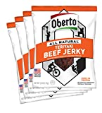 Oberto All Natural Teriyaki Beef Jerky, 3.25 ounce package (Pack of 4) by Oh Boy Oberto [Foods]