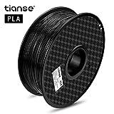 TIANSE 3D Drucker filament pla 1,75 mm Schwarz für 3D Drucker 1 kg, Dimensionsgenauigkeit +/- 0,03 mm