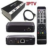 IPTV Box mit 12 Monaten IPTV 6000+ Fernsehsender,[USA, Kanada, Großbritannien, Europa, Arabisch Indisch] weltweit (IPTV Box)