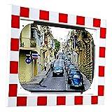 Verkehrsspiegel - (Spiegel aus Acrylglas) 800x600 mm - Übersicht bei Ausfahrt - 03.0102