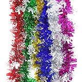 6Pcs Farbe Feiertags Partei Zeremonie Hängen Lametta Girlanden Weihnachten Dekoration Christbaumschmuck Set (Länge: 2 m)