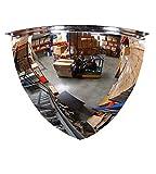 Kontrollspiegel - (Viertel-Kugelspiegel aus Acrylglas) 90 Grad von Kugel 600 mm - Ideal für unübersichtliche Ecken und Räume