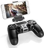 Gaminger Clip Halterung für Smartphones wie iPhone Samsung Galaxy HTC Huawei LG für Playstation 4 Controller