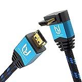 Ultra HDTV Premium 4K HDMI Kabel 2m mit 1x 90°-Winkel/HDMI 2.0b, 4K bei vollen 60Hz (Keine Ruckler), HDR, 3D