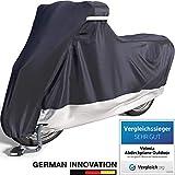 Velmia Motorrad Abdeckplane Outdoor & Indoor für optimalen Schutz - [230 x 100 x 125 cm] Motorcycle Cover mit perfektem Halt - Roller Abdeckplane