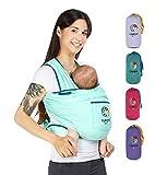 YUNIQME® Tragetuch fürs Baby – Elastisches Babytragetuch aus 100% Baumwolle – GOTS – Babysling für Neugeborene – Bauch Babytrage I Baby Zubehör – OEKO TEX