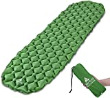 Hikenture Unisex Adult hiken02 Kleines Packmaß Ultraleichte Aufblasbare Isomatte-Sleeping Pad für Camping, Reise, Outdoor, Wandern, Strand (Grün), Kissen, 1