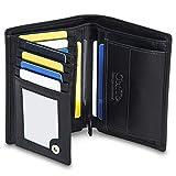 GenTo® Herren Geldbörse GENF - TÜV geprüfter RFID, NFC Schutz - Besonders geräumiger Geldbeutel   Design Germany