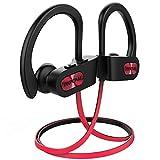 Mpow Flame Bluetooth Kopfhörer, IPX7 Wasserdicht Kopfhörer Sport, 7-10 Stunden Spielzeit/Bass+ Technologie, Sportkopfhörer Joggen/Laufen Bluetooth 4.1, In Ear Kopfhörer mit Mikrofon für iPhone Android