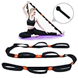 5BILLION Yogagurt - 4cm Breite - Stretchgurt mit Mehreren Grip Loops - Ideal für Heißes Yoga, Körperliche Therapie, Größere Flexibilität & Eignung-Training