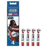 Oral-B Star Wars Aufsteckbürsten,Für Kinder ab 3 Jahren, 4 Stück