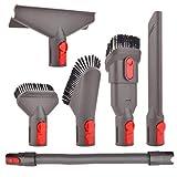 Staubsauger Zubehör Set Bürste Tool Düse Set mit Verlängerungs-Schlauch Ersatzteile für Dyson V7 V8 V10 SV10 SV11 Staubsauger (6 in 1)