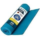 KLINOO Extra Starke Müllbeutel 120 L - Reißfeste Müllsäcke XXL - 25 STÜCK je Rolle - Stabile Mülltüten blau für Haushalt, Baustelle und Gastronomie als Abfallsack (1 Rolle)
