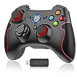 EasySMX Wireless Controller, Drahtloser 2.4G Spiel-Controller unterstützt PC (Windows XP / 7/8 / 8.1/10) und PS3, Android, Vista, TV-Box Tragbare Gamepad Gaming Joystick