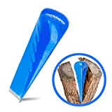 Trawomax® Spaltkeil zum Spalten von starkem Holz - [2 kg] - Drehspaltkeil aus extra gehärtetem Carbonstahl mit hoher Langlebigkeit - Holzspaltkeil | Spalter für Holz | Spaltgranate (Metall, Blau)