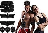 CybGene Bauchmuskeltrainer Elektrisch Muskelstimulator Muskelaufbau Bauchtrainer Batterien