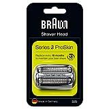 Braun Elektrorasierer Ersatzscherteil 32S, kompatibel mit Series 3 Rasierern, silber