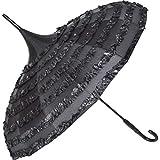 Traumhafter GOTHIC Regenschirm mit Spitze und Pagodendach