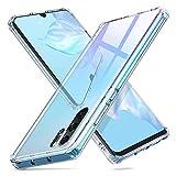 ORNARTO HD Glashülle für Huawei P30 Pro Hülle - 9H Hartglas Handyhülle Durchsichtig mit dualer Rückseite – [Stoßfest] Kratzfeste Schutzhülle mit weichem TPU Bumper für Huawei P30 Pro (2019) 6,47 Zoll