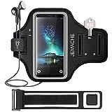 Galaxy S10/S9/S8 Armband, JEMACHE Gym Laufen/Joggen/Übung/Workout Armbänder für Samsung Galaxy S10/S9/S8/S7 Edge mit Schlüssel/Kartenhalter (Schwarz)