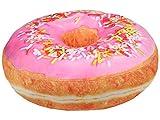 Kissen Donut Kissen Donutkissen Deko Kissen Dekokissen Sitzkissen Kuschelkissen Doughnut ca. 40 cm rund (Rosa mit Streusel)