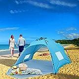 Beach Tent Strand Camping Zelt Sonnenschutz mit UV-Schutz Sonnenschutz Automatisches Zelt 2 oder 3 Personen für Outdoor-Aktivitäten