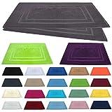 Badvorleger / Badematten / Badteppich - 2er Pack - Baumwolle 800g/m² - 50x80 cm - Farbe Anthrazit