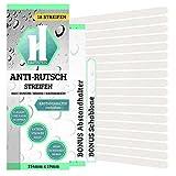 HAFTSTEIG Anti-Rutsch-Sticker Badewanne Dusche Bad + Anbringhilfe/Rutschsichere Duschmatte transparent/Selbstklebende Antirutsch Sticker/Kurz (254mm x 19mm)