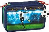 Brunnen Schüler-Etui Federmappe Fußball mit 29 Stiften Schere Lineal 10-4912158