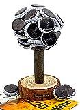 HOPFENBLÜTE - Magnetbaum Holz – Männer Geschenk Geburtstag - Partygeschenk - Bis zu 60 Kronkorken – Magnetbaum - Bier