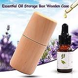 Zylinder Aufbewahrungsbox aus Holz tragbar Massivholz Foudation ätherisches Öl, der Fall Display Organizer für 10ml Flaschen