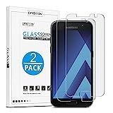 [2 Stück] OMOTON Panzerglas Schutzfolie für Samsung Galaxy A3 2017, 9H Härte, Anti-Kratzen, Anti-Öl, Anti-Bläschen,2.5D abgerundete Kanten,lebenslange Garantie
