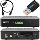 Anadol HD 200 Plus HD HDTV digitaler Satelliten-Receiver (Wifi, HDTV, DVB-S2, HDMI, SCART, 2x USB 2.0, Full HD 1080p, Youtube) [vorprogrammiert] inkl. HDMI Kabel - schwarz