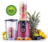 NUTRI-TWIST NO.1 Smoothie Maker to go Innovatives 2-IN-1 DESIGN | 600ml to go Mix Trinkflasche + 800ml Mix-Behälter | BPA-frei | Der beste Mini Stand-Mixer für Gesunde Smoothies & Shakes