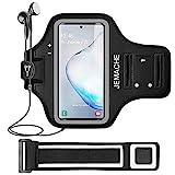 Galaxy Note 9/8 Armband, JEMACHE Gym Lauf / Übung / Workout Arm Band Case für Samsung Galaxy Note 9/8/5 mit Schlüssel / Kartenhalter (Schwarz)