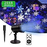 LED Projektionslampe Weihnachten,Effektlicht Projektor Projektionslampe weihnachtsbeleuchtung außen Wasserdicht IP44 für Außen und Innen Deko, Partys, Weinachten, Feiertage, Halloween
