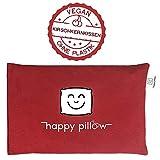 EINFÜHRUNGSANGEBOT - HAPPY PILLOW - Kirschkernkissen - 500g - Bezug aus 100% Baumwolle - ökologisches Naturprodukt zur Entspannung - Hilft bei Schmerzen und Verspannungen - Größe 29x19cm