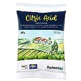 Zitronensäure 500 g, reine Premiumqualität, Wasserfrei Pulver, NortemBio für ökologischen Produktion