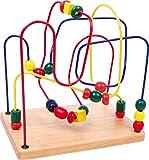 Small Foot by Legler 6941 Geschicklichkeitsspiel aus Holz mit drei verschieden farbigen Schleifen, zur Förderung der Grobmotorik, 2+ Jahre