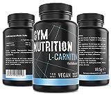 GYM - NUTRITION PREMIUM L-CARNITIN 3000   Mega Hochdosiert   Beliebt bei Definitionsphase und Diät   Beliebt bei Sportlern   100 Kapseln   Vegan   Made in Germany Markenprodukt gut   Keine Zusätze