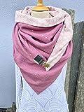 Tuecherfee/XXL Dreieckstuch/taupe/grau/weißes Halstuch mit Verschluss/XXL Tuch/als Verschluss dient ein Clip