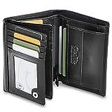 GenTo® Herren Geldbörse GENF - TÜV geprüfter RFID, NFC Schutz - Besonders geräumiger Geldbeutel | Design Germany