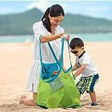 FACILLA® Kinder Aufbewahrungsnetz Aufbewahrung Netz Tasche für Sandspielzeug Strand Mode