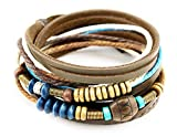 axy TWIC13 TIBET WICKELARMBAND SERIE 13! ECHT LEDER Armband Leather Bracelet!Surferarmband Schmuck (Modell 4)