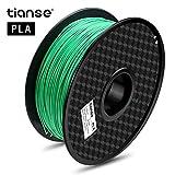 TIANSE Grün 3D PLA Filament 1,75 mm für 3D Drucker 1 kg, Dimensionsgenauigkeit +/- 0,03 mm